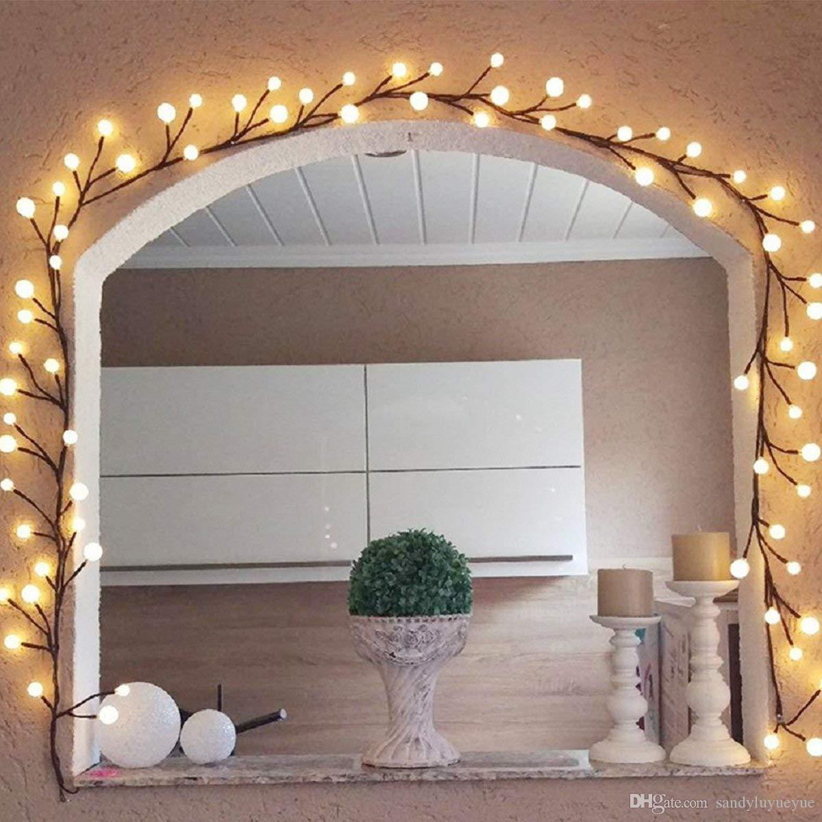 2019 8ft branch fairy string lights 72 led hanging - How to hang up string lights ...