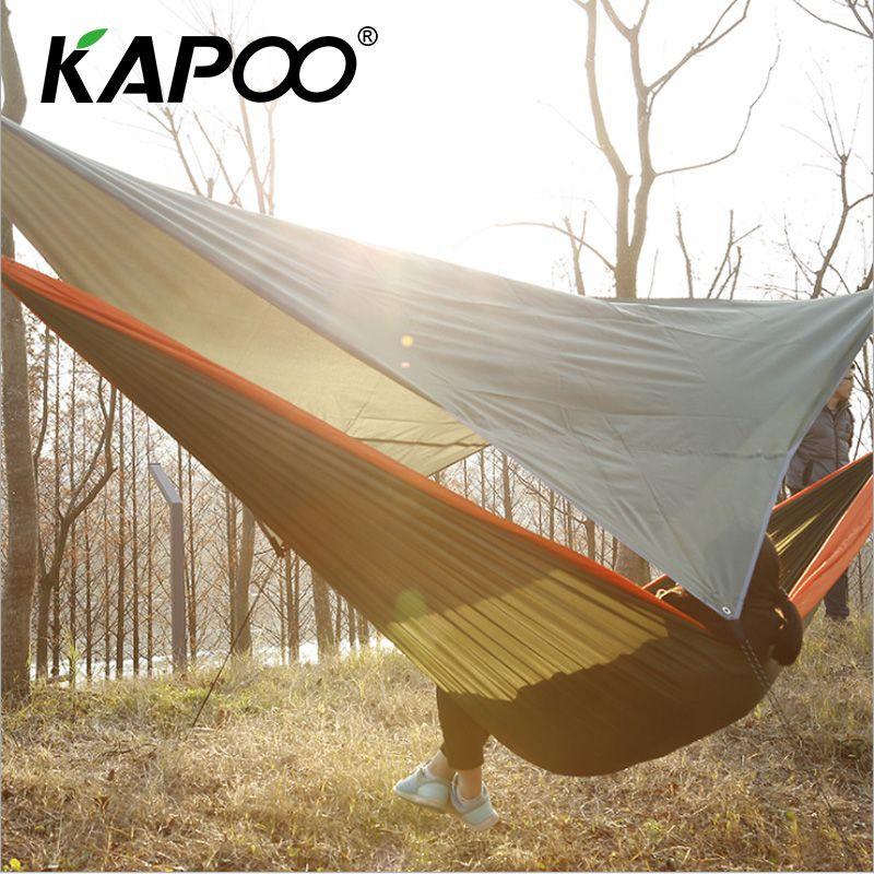 Portable Outdoor Leisure Hammock Beach Sunshade Cloth 200 195cm