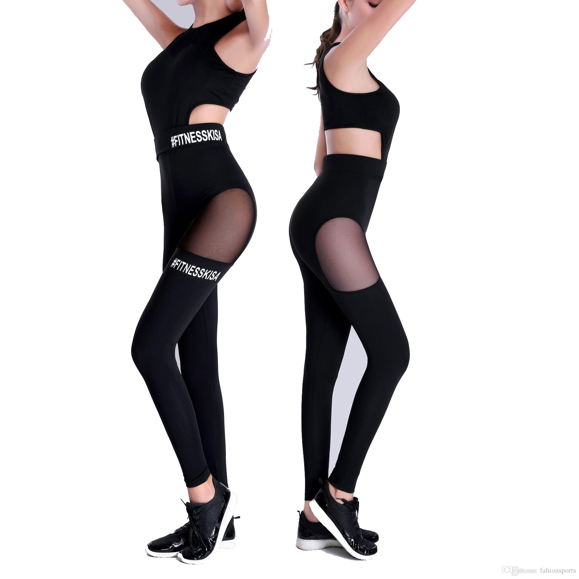 55fe32166106 One Piece Sexy Women Gym Fitness Clothing Suit Quick Drying Elastic ...