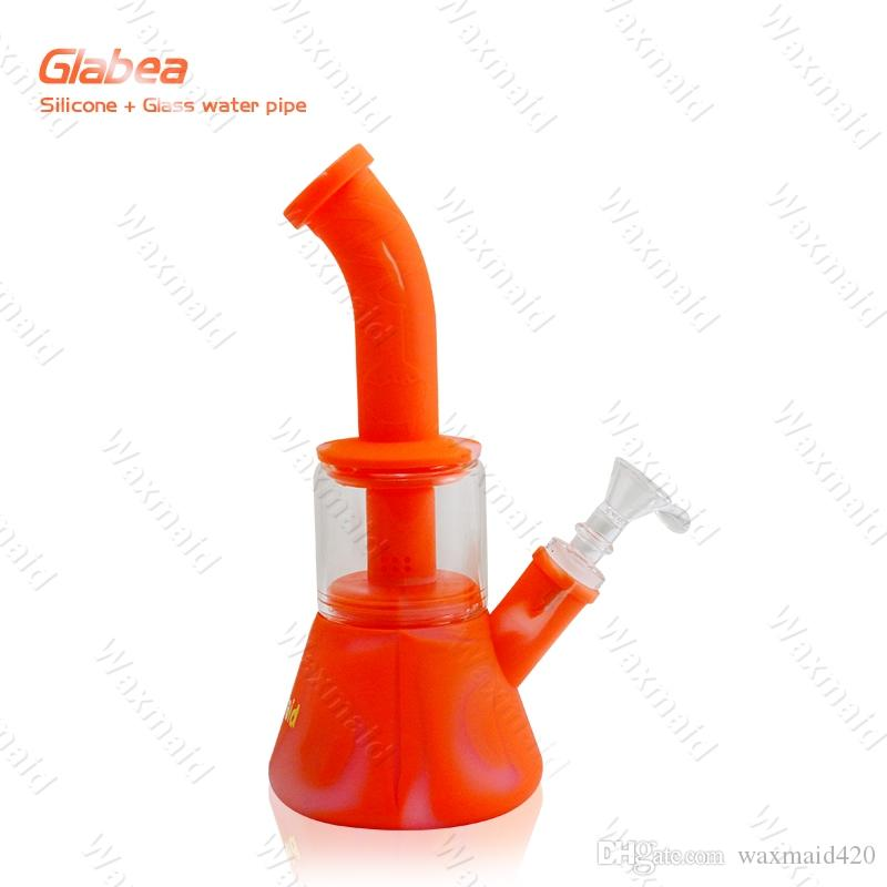 Glass Bong FDA Silicone Water bongs With 14mm Male joint Bongs for choose Factory Outlet DHL