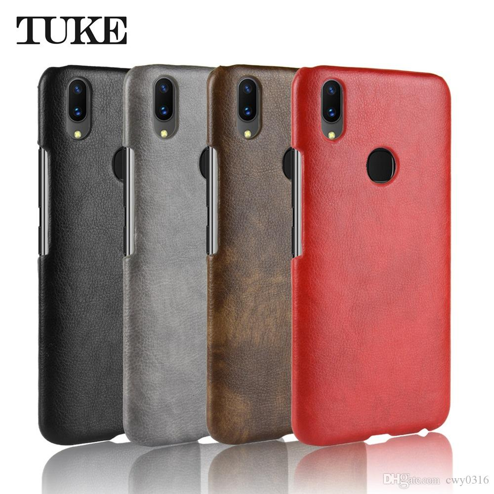 finest selection 60ae5 347c1 TUKE For VIVO V9 Case For VIVO V9 Case Hard Back Cover Leather Phone Case  For VIVO V9 YOUTH IN 1727 F1303 Protective Cover