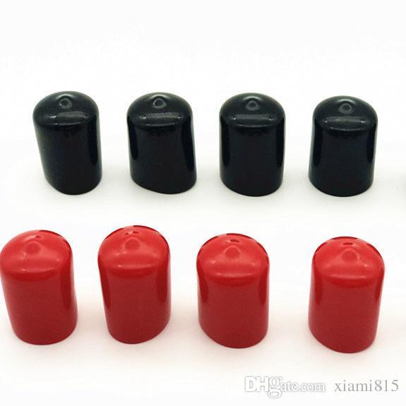 . Tapones de goma Cubierta inteligente Tapón de tapa Protector de tornillo Tapa de sellado Diámetro interior de 2 mm a 14 mm Negro o rojo