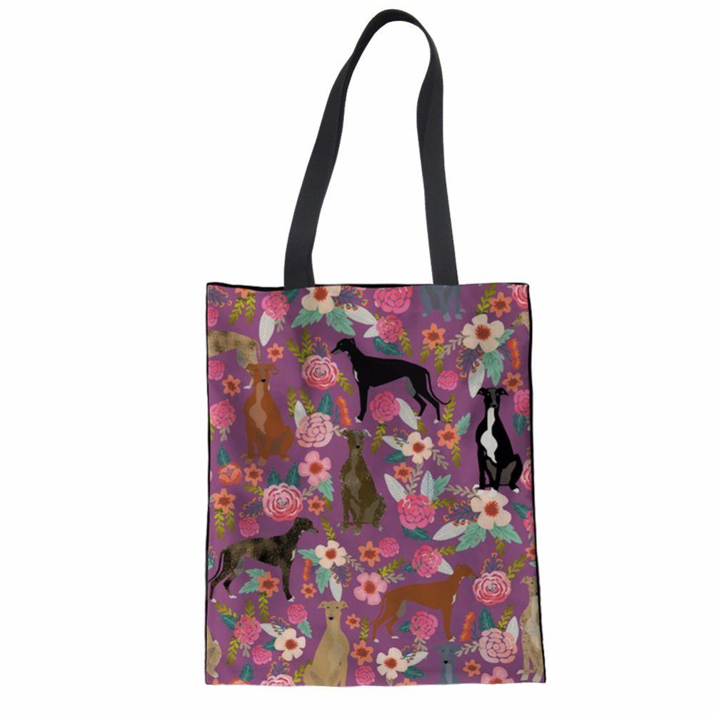 Тикин холст сумки для женщин Эко многоразовые складной черный лабрадор печати сумка Сумка Сумка хлопок сумка
