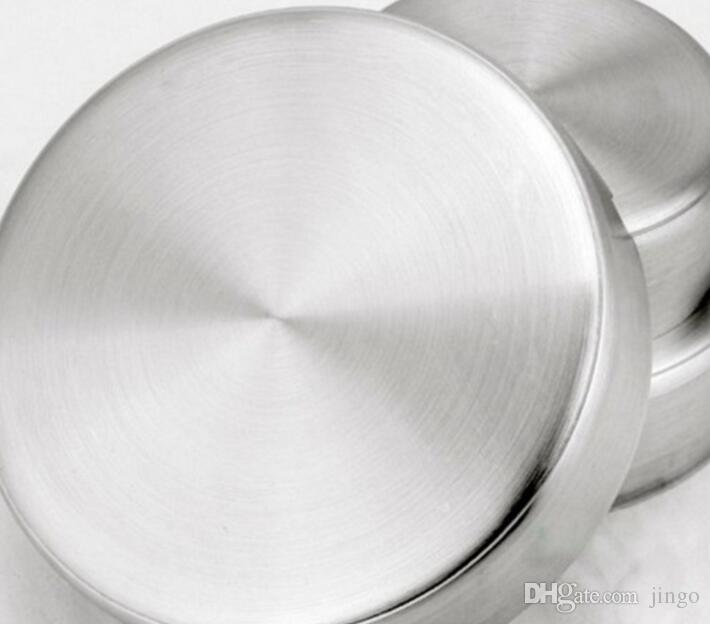 DHL 8CM Stainless Steel Ashtray for Cigarettes Outdoor Easy Clean House Decorations Stainless Steel Ashtray for Home/Office