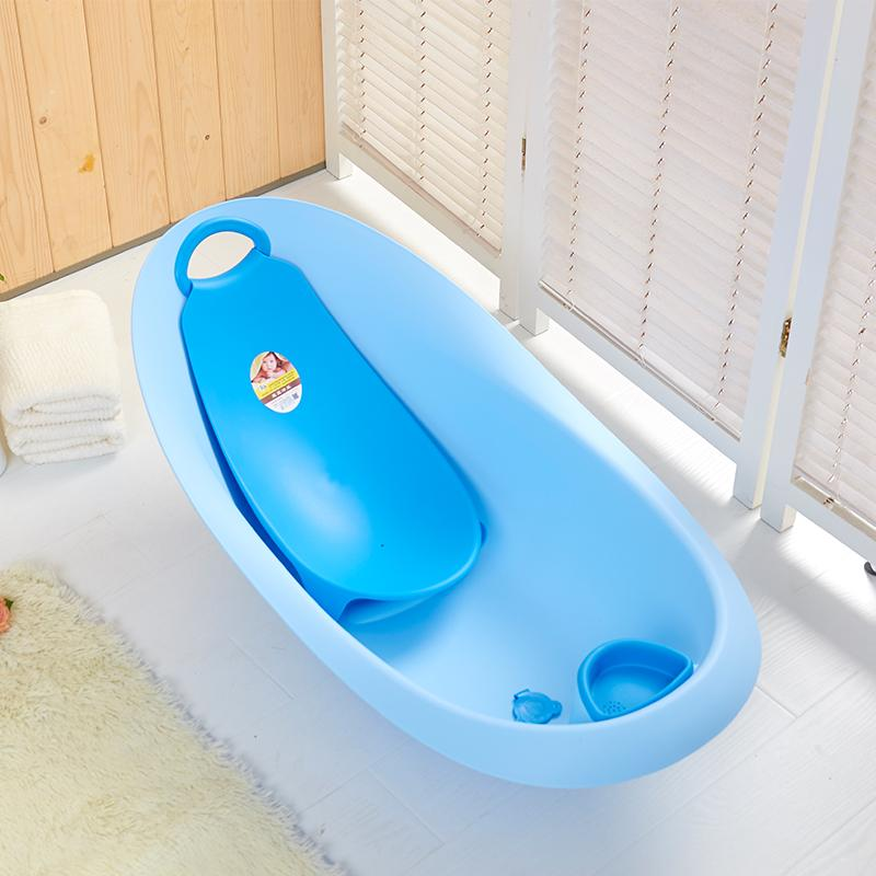 Large Baby Bath Tubs Plastic Bathtub Environmental Water Scoop Style Comfort Baby Bath Tub With Lying Plate Rack Plus Size