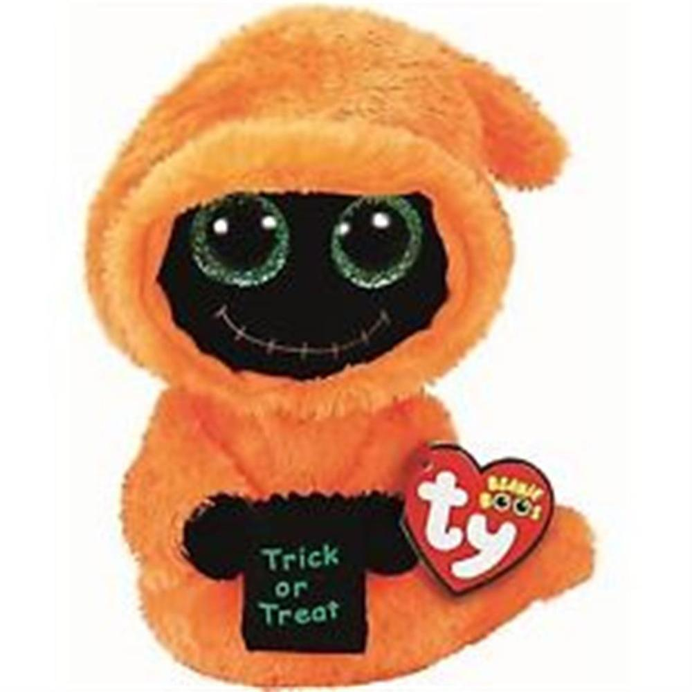 b131cec8685 2019 Ty Beanie Boos 6 15cm Seeker Orange Reaper Halloween Ghost Plush  Regular Stuffed Animal Collection Soft Doll Toy From Oliveer