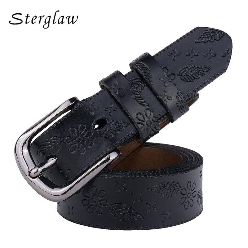 36e720bc6 2018 High Quality Genuine Cowskin Leather Belts For Women Carved Design  Retro Metal Women Strap Cintos Ceinture Female Belt C206 Maternity Belt  Leather Belt ...
