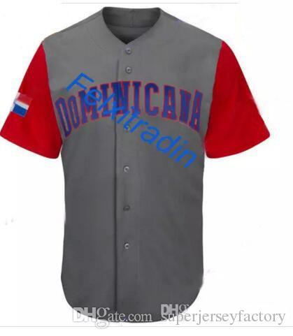 Hombres dominicanos 2017 Clásico mundial de béisbol Jersey 22 Robinson Cano José Bautista Gregory Polanco Manny Machado Adrian Beltré camisetas de béisbol