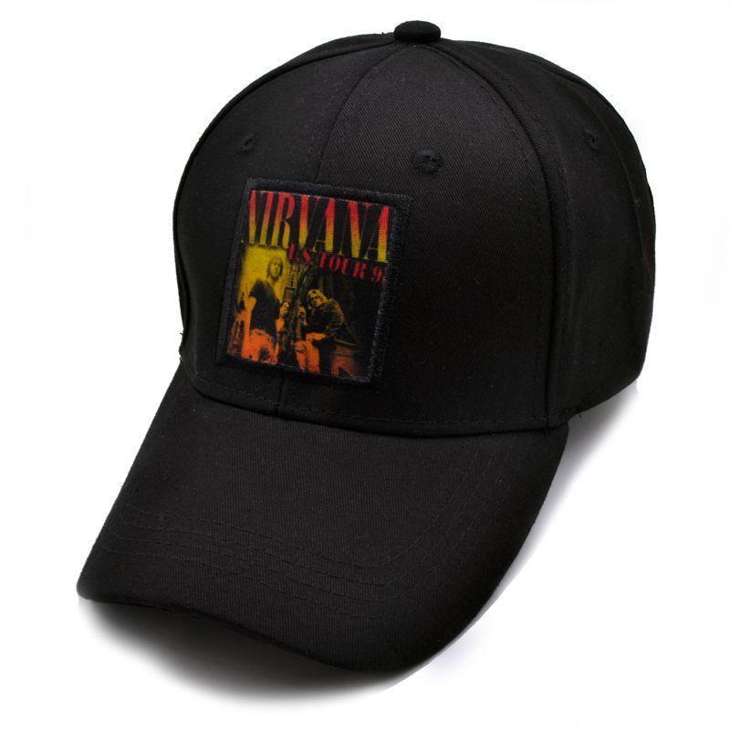d9237e872d1 New 2017 Winter Hip Hop Fashion Nirvana Cap Rock Band Mens Caps Brand  Snapback And Sun Hats Visor Duck Tongue Punk Brand Cap Cool Caps Flat Brim Hats  From ...