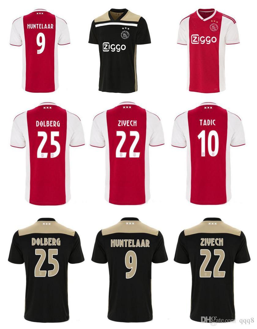 6b4efd59faab0 Acheter 2018 2019 Ajax FC Maillot 9 Huntelaar 10 TADIC 25 Dolberg NERES  SCHONE 34 Nouri 18 19 Maillot De Foot Personnalisé De Qualité Thaïlande De  $15.11 Du ...
