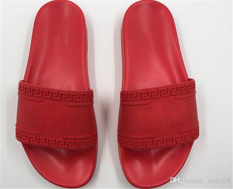 5ffe78d37d2 2018 NEW Europe Brand Fashion Men Striped Sandals Medusa Scuffs ...