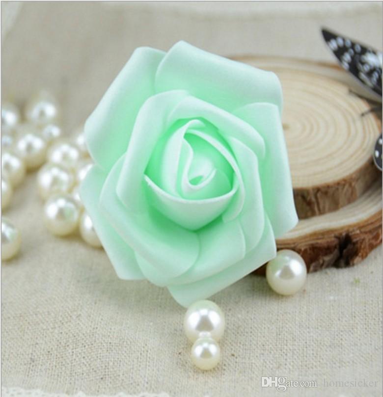 Wholesale 7cm Handmade Artificial Foam Rose Flower Heads For Wedding Decoration Kissing Ball