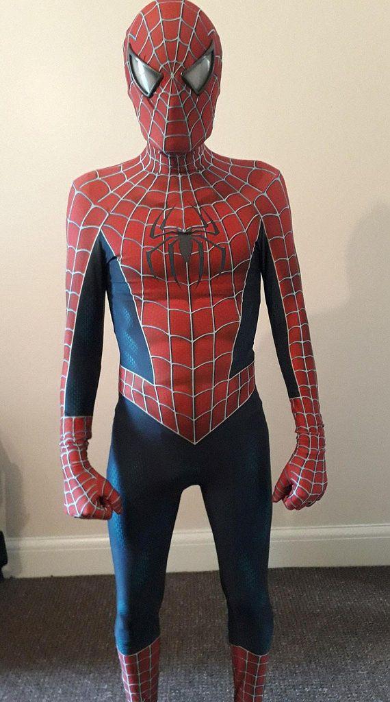 2020 Raimi Spiderman Costume 3D Printed Kids Adult Lycra Spandex Spider Man Costume For ...
