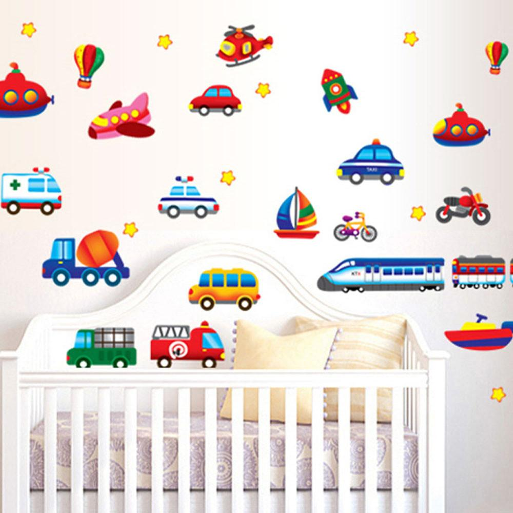 Cartoon Cars Child Room Wall Stickers For Kids Room Boy Bedroom Wall Decals  Window Poster 3D Car Wall Sticker DIY Wallpaper Vinyl Wall Clings Vinyl Wall  ...