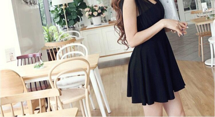 Gece kulübü kadın elbise 2018 yaz Avrupa yeni Kore versiyonu seksi sutyen kısa etek şifon elbise ücretsiz kargo