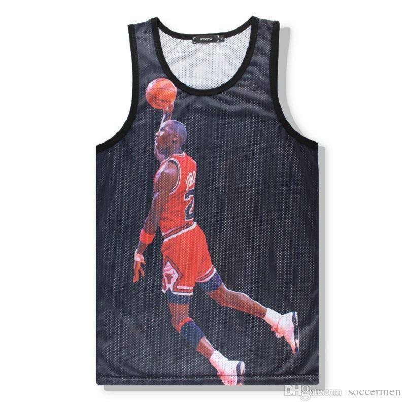 2866a444107 Basketball Star 3D Print Fitness Men Blank Stringer Tank Top Singlet  Bodybuilding Sport Undershirt Clothes Gym Vest Muscle Singlet Bodybuilding  Sport ...