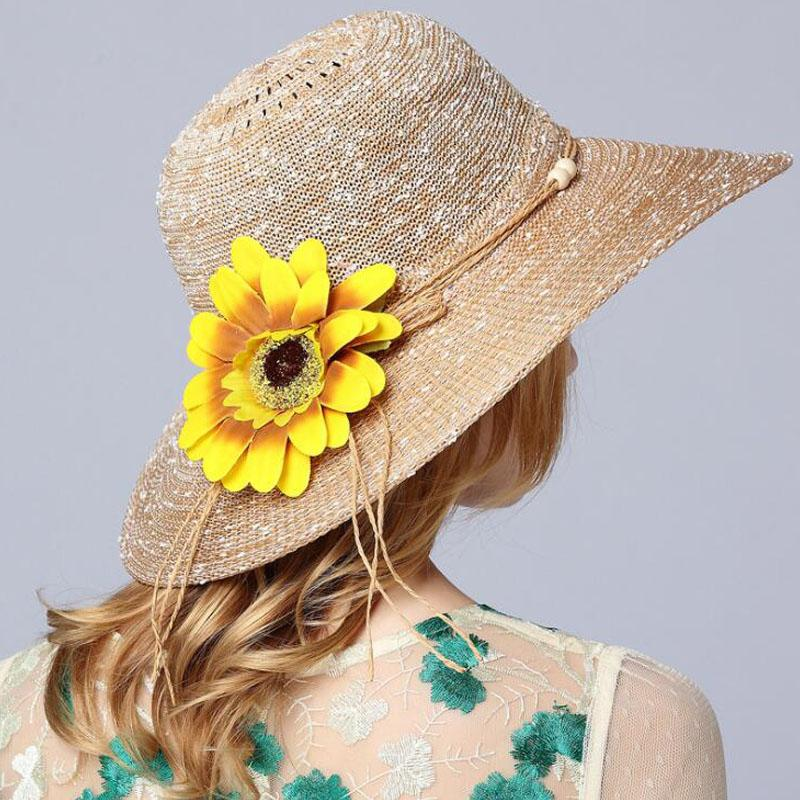 8f6964f1626 2018 New Fashion Summer Hats For Women Spring Travel Cotton Panama Floral Sun  Hats Ladies Straw Hat Beach Accessories Adult Floppy Hats Black Floppy Hat  ...