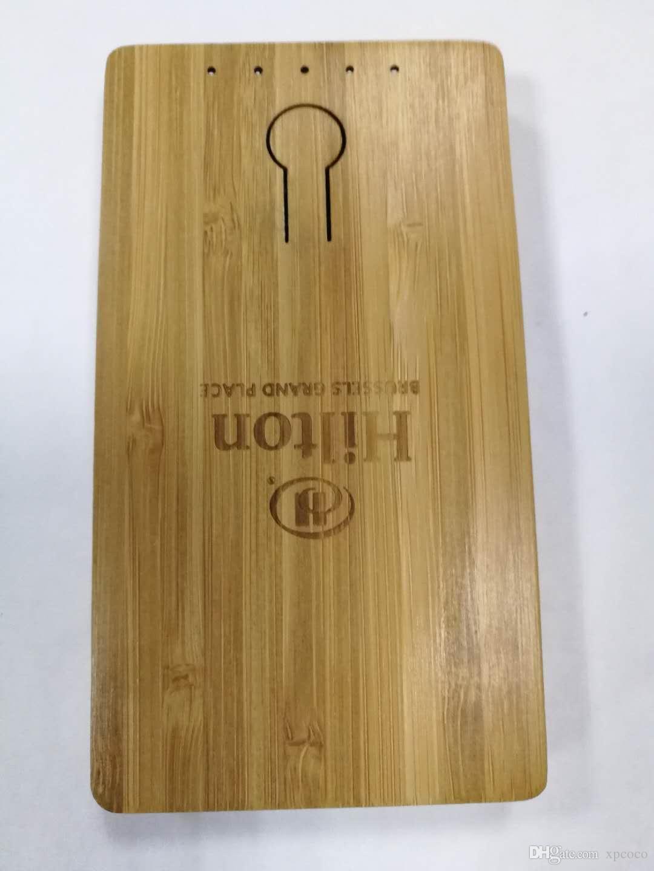 Banques d'alimentation en bambou naturel pur Shell 5000mAh avec parfum de bambou naturel pour téléphone mobile, tablette, produit numérique général 5V