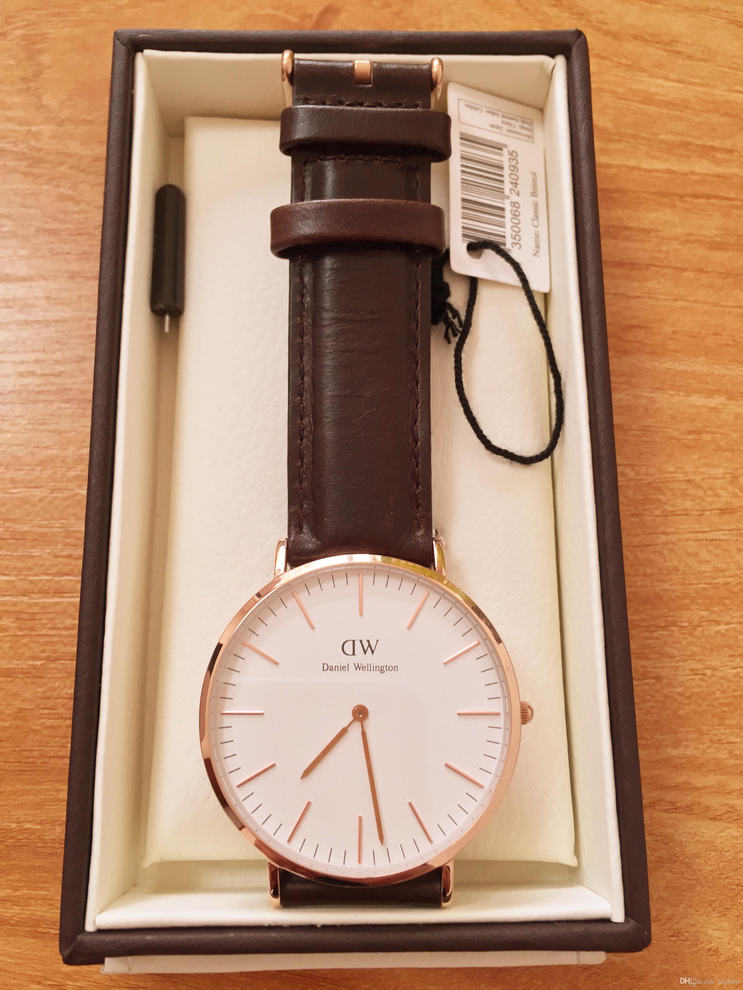 51d02c02b77 Compre Nova Marca De Moda Daniel Wellington Relógios 40mm Homens ...