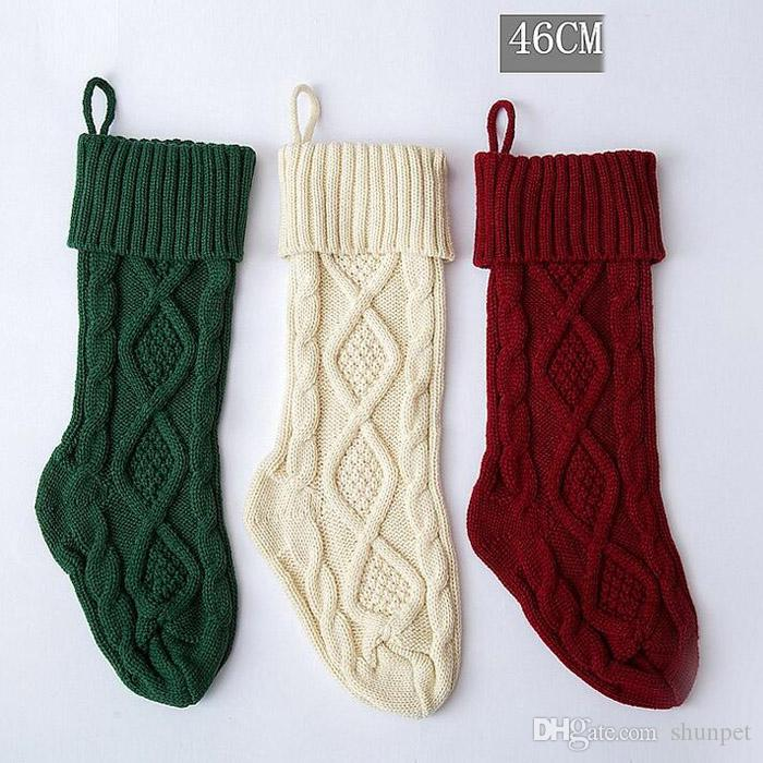 New Arrival Knitted Christmas Stockings Decoration Christmas Gift ...