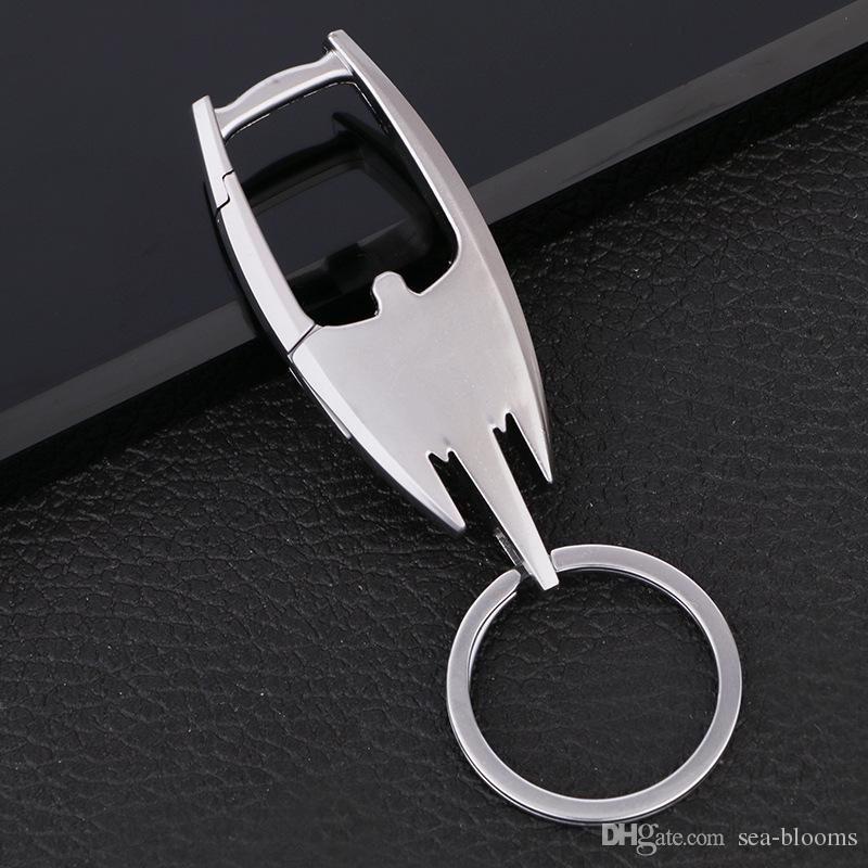 3 estilo de los hombres de aleación de metal llavero cintura hebilla del coche colgante bolso de la manera llaveros regalos empresariales llavero accesorios de la joyería libre DHL G778R