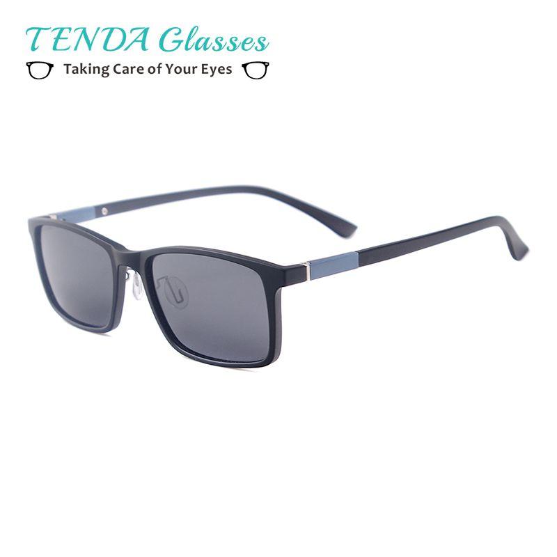 8405c83613 Men Women TR90 Lightweight Rectangle Fashion Driving Polarized Prescription  Sunglasses For Myopia Progressive Lenses Bifocal Sunglasses Retro Sunglasses  ...