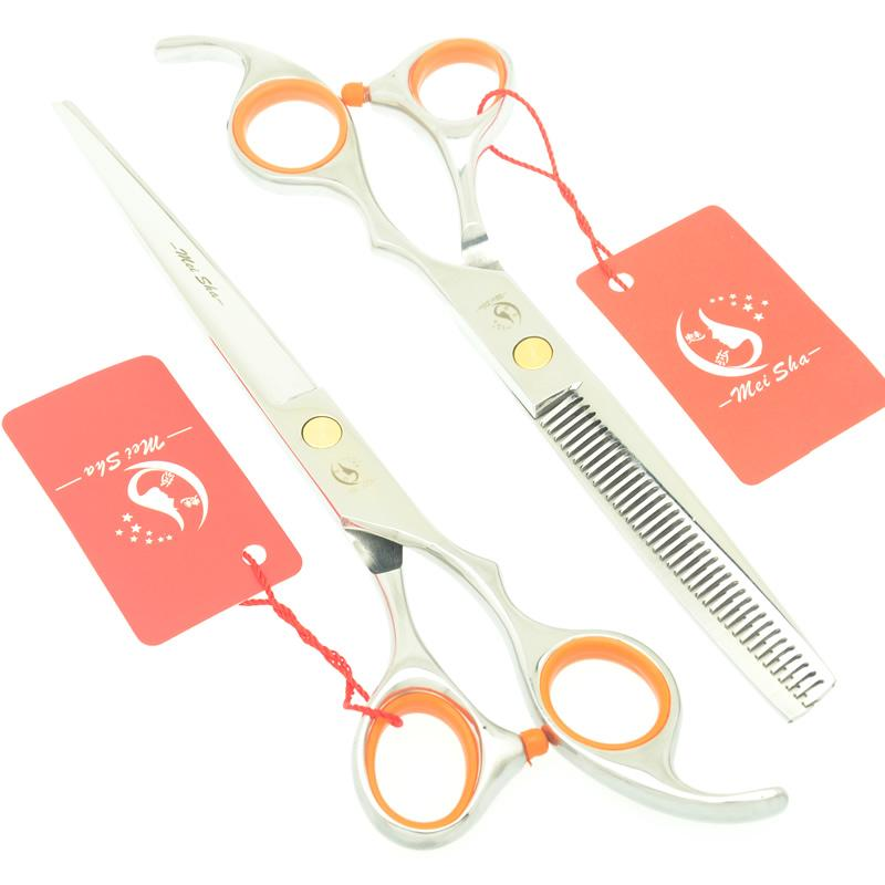 Meisha 7.0 Inch Barbers Hairdressing Scissors Set Salon Shop Beauty Hair Cutting Thinning Shears Professional Hairdressers Tesouras HA0398