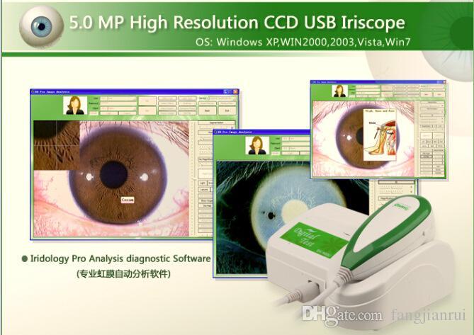 Équipement de beauté de détection de l'analyseur de machine d'analyse de peau et de cheveux de la lumière UV portable 2018 5 millions comme détection de l'iris de définition élevée