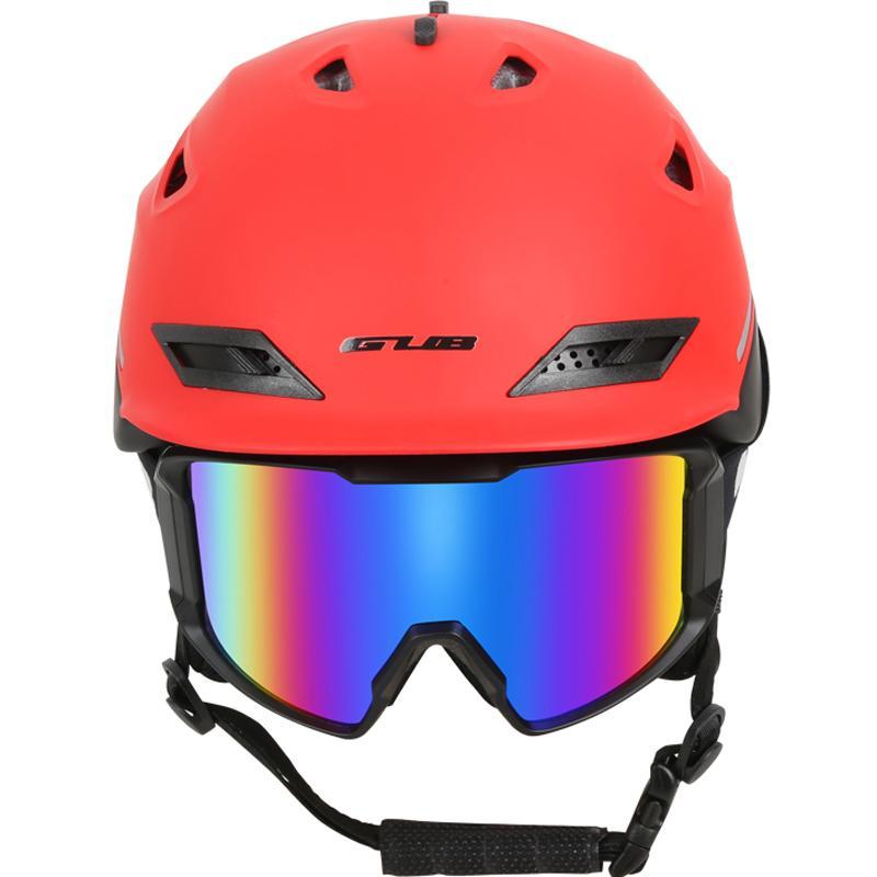 cdbe7f34938c2 Compre Homem   Mulher Marca Capacete De Esqui   Óculos De Snowboard  Capacete Moto Bicicleta Ciclismo Skate Capacete Esquis   Trenó Pesca  Camping Esportes ...