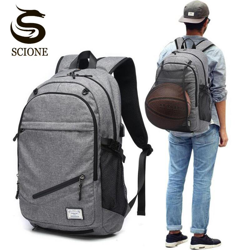 15e6313531d Male Laptop Backpack Canvas Men School Bags For Teenager Ball Bag Pack  Multifunction Travel Rucksack S Mujer Kelty Backpack Camo Backpack From  Allinbag, ...