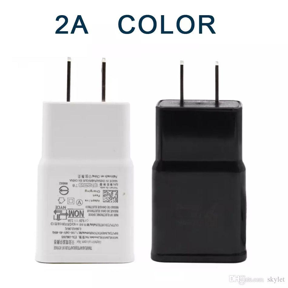 Cargador de pared USB 5V 2A 1A Adaptador de casa de viaje AC US UE Plug para Smartphone universal Teléfono Android para Samsung S7 S8