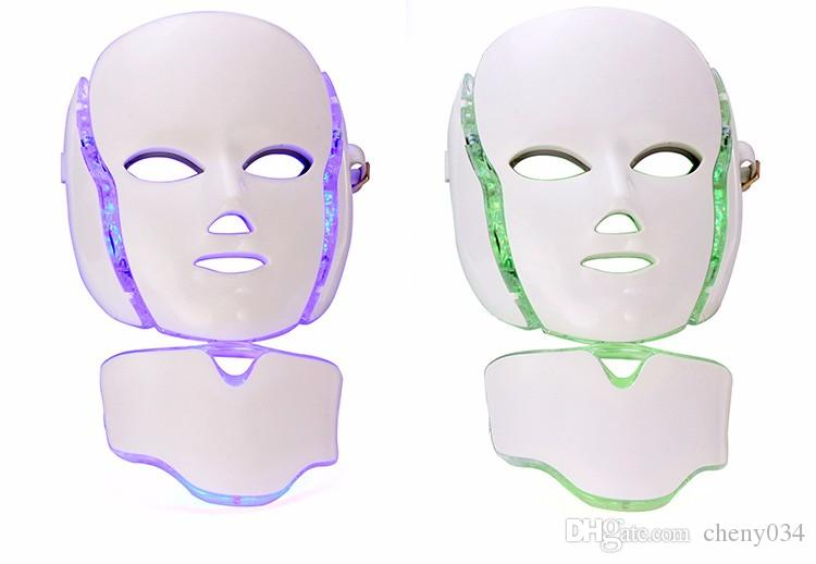 LED Light Microcurrent Facial Mask Machine Photon Therapy Skin Facial Neck Mask Acne Whitening Electric Device Massage