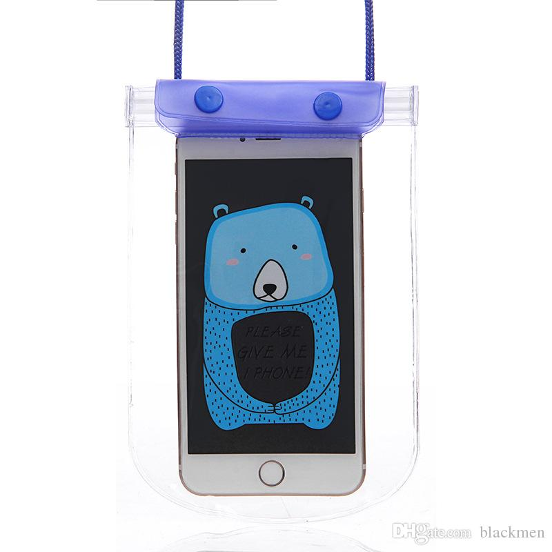 Cartoon Dry Bag Waterproof case bag Protective Phone Bag Pouch With Compass Bags For Diving Swimming phone up to 5.5 inch