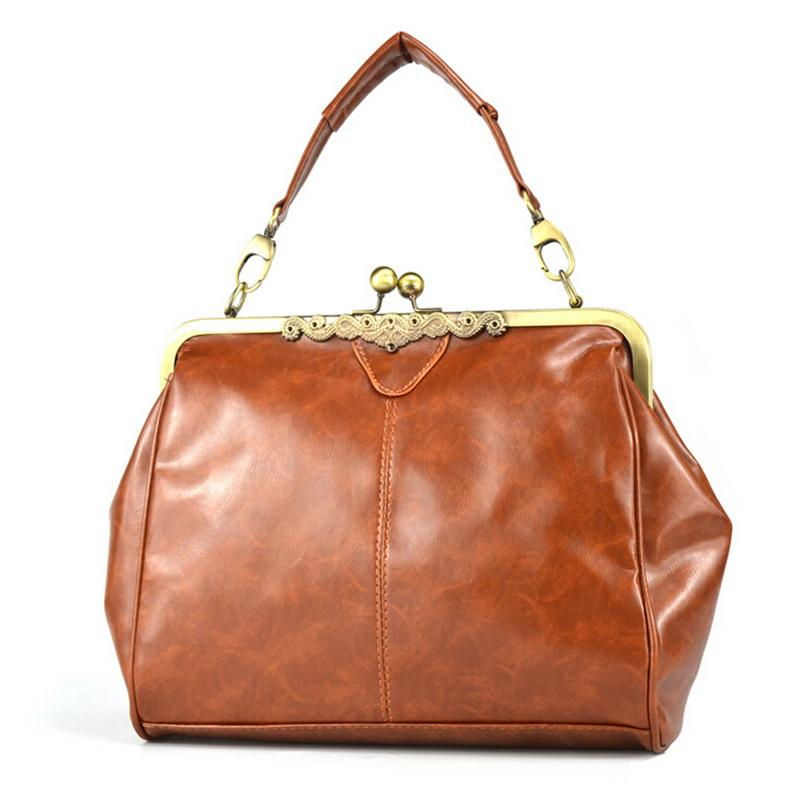 Vintage PU Leather Bags Women Handbag High Quality Female Tote Bag Large  Frame Ladies Work Bag Brown Black Beige Blue Fashion Bags Leather Bags For  Women ... 1a453b141