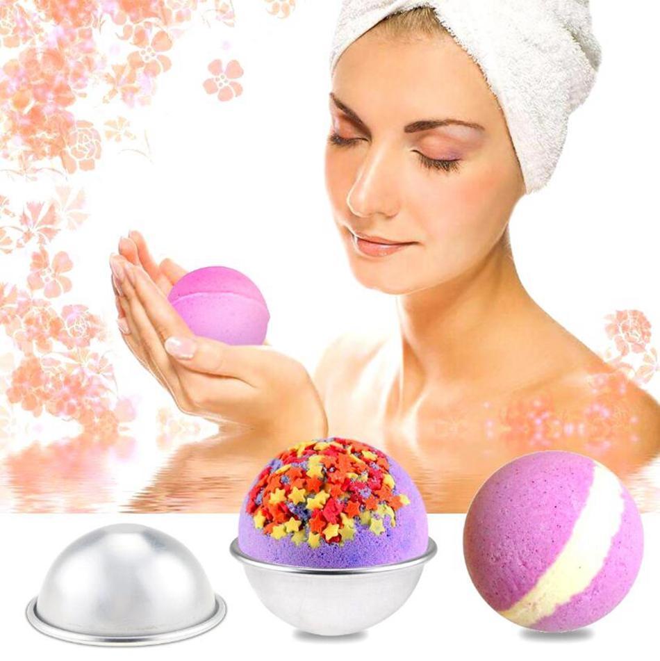 Bath Bomb Cake Mould 3D Alliage D'aluminium Ball Sphère Bath Bomb Mould Cake Cuisson Du Moule À Pâtisserie 3 Tailles OOA4455