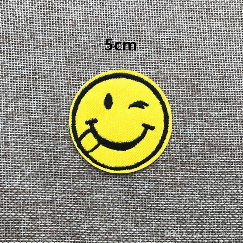 ~New fashion Smiling face Badge Iron on of Stickers, Gum sew on patches Patch Wholesale, DIY Cloth Accessories
