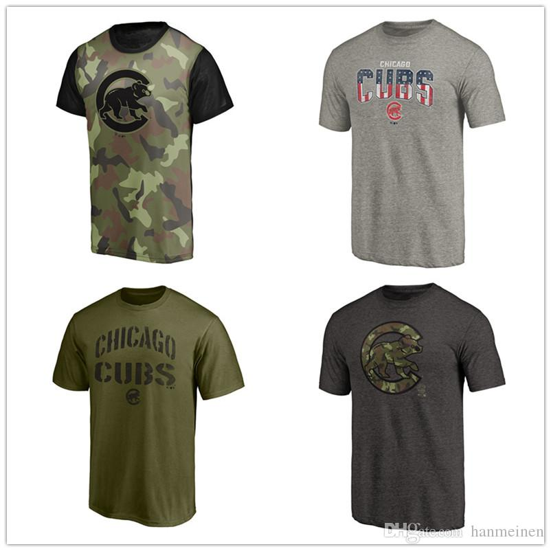 more photos 36738 9641f Men s T-shirts cubs 2018 Memorial Day Camo Blast Sublimated T-Shirt Green  Freedom Tri-Blend Camo Collection Jungle T shirts