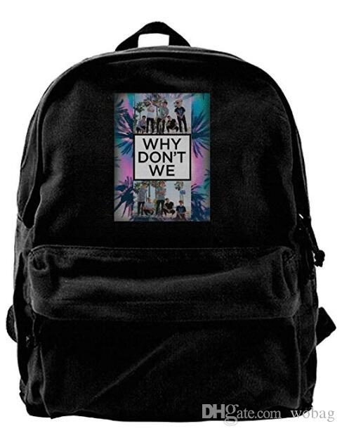 3df5e8631 Why Don't We Art Bag Backpack For Men & Women Teens College Travel Daypack  Black