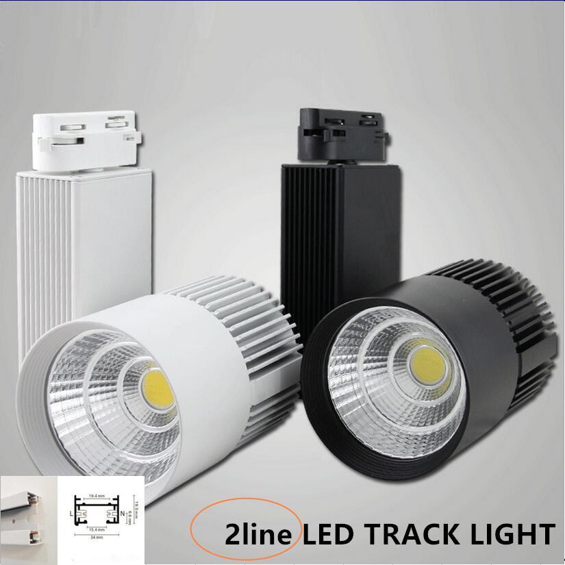 2line 3line 4line LED Rail Lumière 35W CREE Rail Plafonnier suspendu Rail Éclairage Spot Spot Commercial Et Résidentiel Vêtements Magasin Lampe
