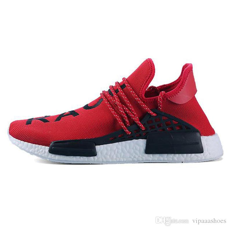 c29ba21d5 2019 Creme X NERD Human Race Solar Pack Running Shoes Pharrell Williams Hu  Trail Cream Core Black Equality Mens Women Trainers Sports Sneakers From ...