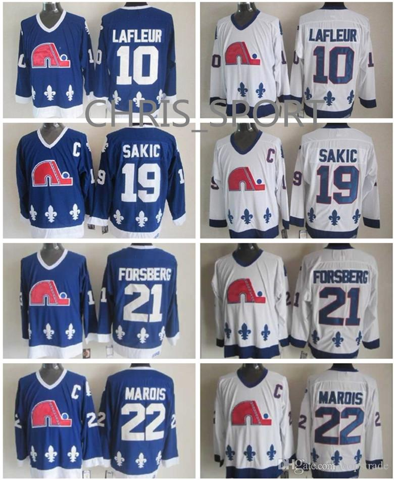 ... cheap quebec nordiques throwback ccm hockey jerseys 10 guy lafleur 19  joe sakic 21 peter forsberg a6c803788