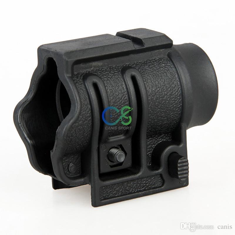 新しいクイックリリーサーデザイン懐中電灯ホルダーフィット1インチチューブフィット20mmのweaverレール用スコープマウントCL33-0004