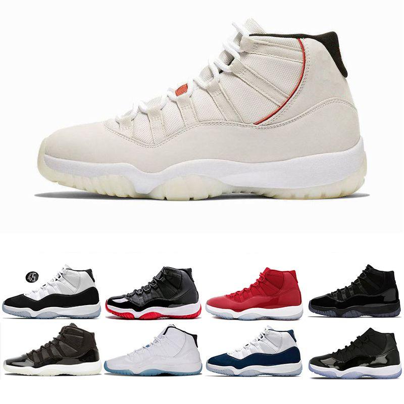 Platinum Tint Bred 11s Men Women Basketball Shoes Blackout PRM Heiress Black  Stingray Black Gym Red Concord 45 Space Sports Shoes Size5.5 13 Basketball  ... 518960b556