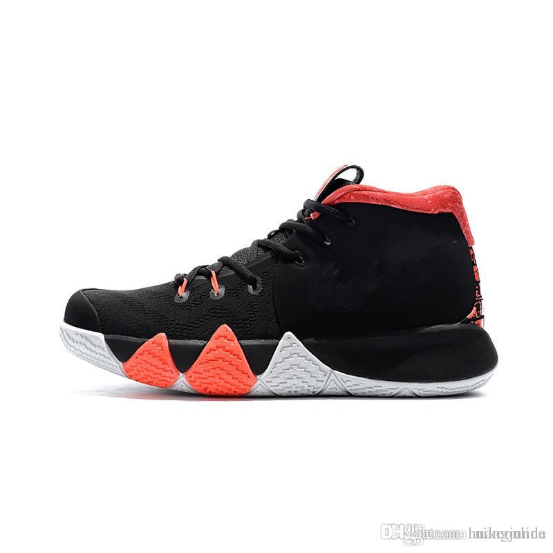 b4e2eaa28756 2019 Cheap New 2018 Mens Kyrie Irving 4 Basketball Shoes 41 For Ages Easter  Black Orange Gold Zoom Air 4s IV Sneakers Trainers With Box For Sale From  ...