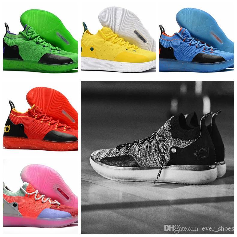brand new dc767 1b6bf Großhandel 2018 KD 11 EP Elite Basketballschuhe 11s Herren Multicolor Peach  Jam Herren Doernbecher Turnschuhe Kevin Durant 10 EYBL All Star BHM  Sneakers 7 ...