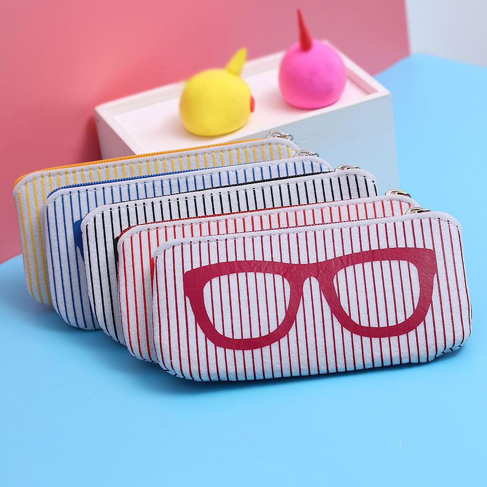 2018 High Quality 18.5*6cm Zipper Eye Glasses Sunglasses Case Pouch Bag Box Storage Protector Fashion Accessoires