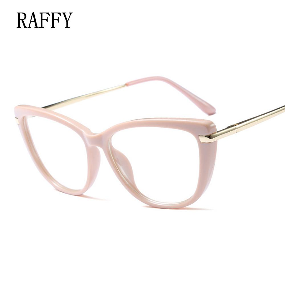 59a9e884c320 2019 RAFFY Cat Eye Women Eyeglasses Full Frame Eyewear Vintage Glasses  Women Eyeglasses Glasses White Black Frames Metal Leg Oculos From Duoyun,  ...