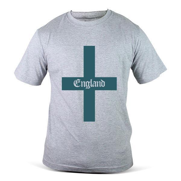 1307 Gy England Fussballtrikot Fussball Logo Fussball Grau Manner T Shirt