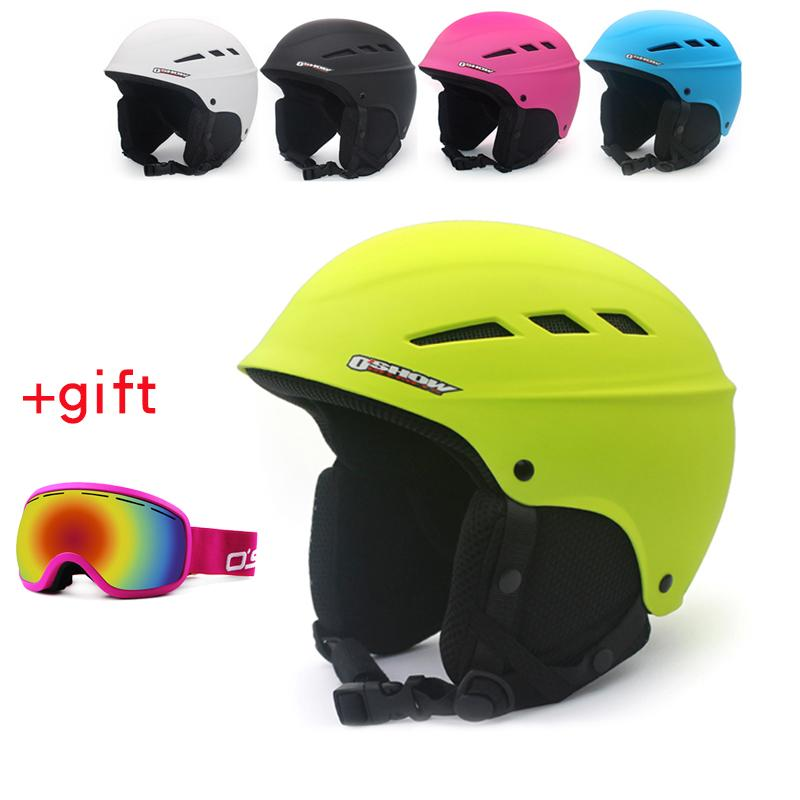 bc5e9c560f8db 2019 OSHOW Ski Helmet With Goggles For Adult Half Covered Snowboard Helmet  Sports Women Covers Safety Skate From Yiquanwater