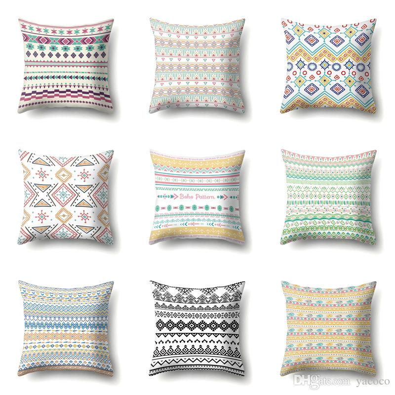 38 Designs Bohemian Pattern 45 45cm Household Fabric Cushion Covers Bedroom Set Christmas Gifts Home Decor Party Decoration
